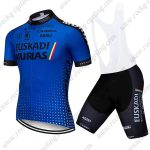 2018 Team EUSKADI Riding Clothing Cycling Bib Kit Blue