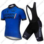 2018 Team EUSKADI Riding Wear Cycling Bib Kit Blue