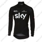 2018 Team SKY Castelli Riding Clothing Biking Long Sleeves Jersey Black