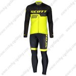 2019 SCOTT RC Team Biking Outfit Riding Long Sleeves Set Black Yellow