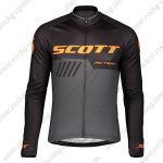 2019 SCOTT RC Team Biking Wear Riding Long Sleeves Jersey Black Orange