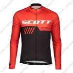2019 SCOTT RC Team Biking Wear Riding Long Sleeves Jersey Red Black