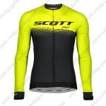 2019 SCOTT RC Team Biking Wear Riding Long Sleeves Jersey Yellow Black