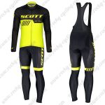 2019 SCOTT RC Team Cycling Clothing Riding Long Sleeves Bib Set Black Yellow
