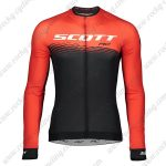 2019 SCOTT RC Team Cycling Clothing Riding Long Sleeves Jersey Red Black