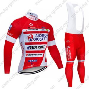 2019 Team ANDRONI GIOCATTOLI Bicycle Apparel Cycle Long Bib Suit Red