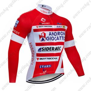 2019 Team ANDRONI GIOCATTOLI Biking Apparel Cycle Long Sleeves Jersey Red
