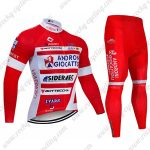 2019 Team ANDRONI GIOCATTOLI Biking Apparel Cycling Long Suit Red