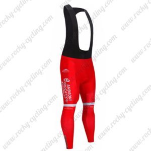 2019 Team ANDRONI GIOCATTOLI Biking Clothing Cycling Long Bib Pants Tights Red