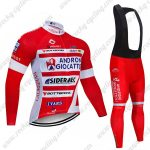 2019 Team ANDRONI GIOCATTOLI Riding Clothing Cycling Long Bib Suit Red