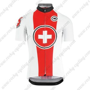 2019 Team ASSOS SUISSE Biking Clothing Riding Jersey Shirt White Red