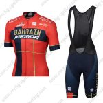 2019 Team BAHRAIN MERIDA Cycle Bib Kit Red