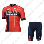 2019 Team BAHRAIN MERIDA Cycle Kit Red