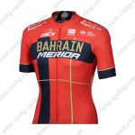 2019 Team BAHRAIN MERIDA Cycling Jersey Shirt Red