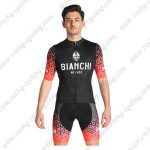 2019 Team BIANCHI MILANO Biking Wear Cycle Kit Black Red