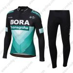 2019 Team BORA hansgrohe Riding Clothing Cycle Long Set Black Blue