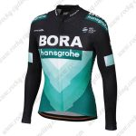 2019 Team BORA hansgrohe Riding Outfit Cycle Long Jersey Shirt Black Blue
