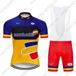 2019 Team Bancolombia Cycling Clothing Riding Bib Kit Blue Yellow Red