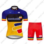 2019 Team Bancolombia Cycling Clothing Riding Kit Blue Yellow Red