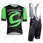 2019 Team Cannondale Biking Apparel Riding Bib Kit Black Green