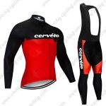 2019 Team Cervelo Riding Wear Cycling Long Bib Suit Black Red