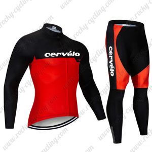 2019 Team Cervelo Riding Wear Cycling Long Suit Black Red