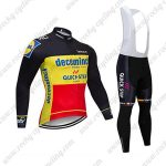 2019 Team Deceuninck QUICK STEP Belgian Champion Cycle Clothing Riding Long Bib Suit Black Yellow Red2019 Team Deceuninck QUICK STEP Belgian Champion Cycle Clothing Riding Long Bib Suit Black Yellow Red