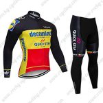 2019 Team Deceuninck QUICK STEP Belgian Champion Cycle Clothing Riding Long Suit Black Yellow Red