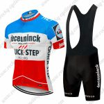 2019 Team Deceuninck QUICK STEP Biking Clothing Cycling Bib Kit Blue White Red