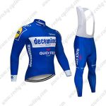 2019 Team Deceuninck QUICK STEP Biking Outfit Cycling Long Bib Suit Blue