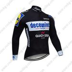 2019 Team Deceuninck QUICK STEP Biking Outfit Cycling Long Sleeves Jersey Black
