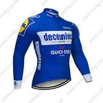2019 Team Deceuninck QUICK STEP Biking Outfit Cycling Long Sleeves Jersey Blue