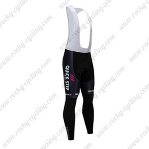 2019 Team Deceuninck QUICK STEP Cycle Wear Riding Long Bib Pants Tights Black