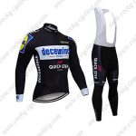 2019 Team Deceuninck QUICK STEP Riding Clothing Cycling Long Bib Suit Black
