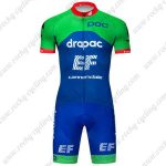 2019 Team EF Cannondale Biking Outfit Racing Kit Green Blue