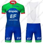 2019 Team EF Cannondale Biking Outfit Riding Bib Kit Green Blue
