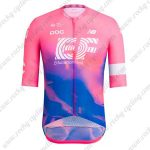 2019 Team EF Cannondale Cycling Clothing Riding Jersey Shirt Pink Blue