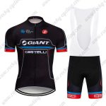 2019 Team GIANT CASTELLI Cycling Clothing Riding Bib Kit Black