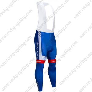 2019 Team Groupama FDJ Bike Clothing Riding Long Bib Pants Tights Blue Red