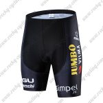 2019 Team JUMBO VISMA Riding Clothing Cycle Shorts Bottoms Black Yellow