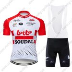 2019 Team LOTTO SOUDAL Cycling Clothing Riding Bib Kit Red White