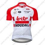 2019 Team LOTTO SOUDAL Cycling Clothing Riding Jersey Shirt Red White