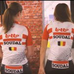 2019 Team LOTTO SOUDAL Womens Lady Cycling Clothing Jersey Shirt White Red