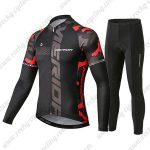 2019 Team MERIDA Cycle Apparel Riding Long Sleeves Set Black Red