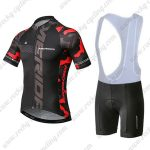 2019 Team MERIDA Cycling Apparel Riding Bib Kit Black Red
