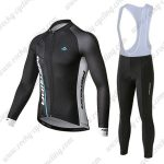 2019 Team MERIDA Cycling Clothing Riding Long Sleeves Bib Set Black