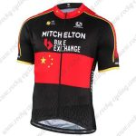 2019 Team MITCHELTON SCOTT Chinese Champion Riding Wear Cycling Jersey Shirt Black Red