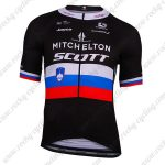 2019 Team MITCHELTON SCOTT Slovenian Champion Cycling Clothing Riding Jersey Shirt Black