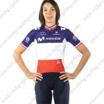 2019 Team MOVISTAR France French Womens Lady Riding Wear Kit Blue White Red