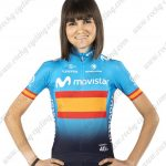 2019 Team MOVISTAR Spain Womens Lady Biking Apparel Jersey Shirt Blue